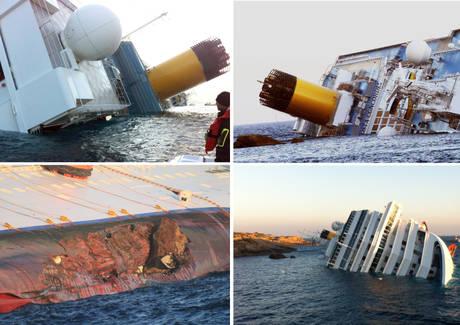 La Costa Concordia si incaglia