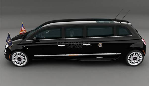 Da Castagna una Fiat 500 elettrica Limousine presidenziale