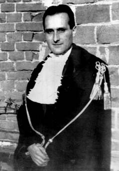 Oscar Luigi Scalfaro, magistrato, nel 1945