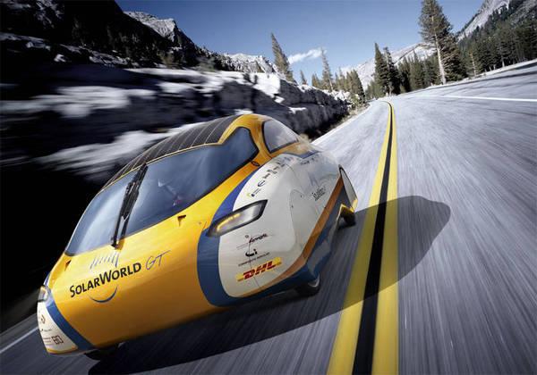 Giro del mondo della macchina solare SolarWorld GT