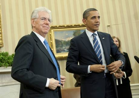 Barack Obama con Mario Monti