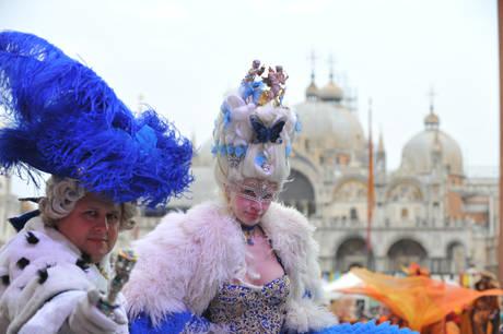 Marie Antonietta e Luigi XVI di Francia, Piazza San Marco, durante il Carnevale di Venezia