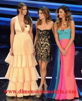 Sanremo: Ivana Mrazova, Belen Rodriguez e Elisabetta Canalis