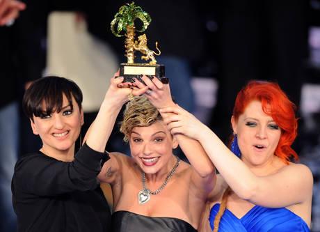 Podio al femminile a Sanremo. Emma con il brano ''Non e' l'inferno'' vince il 62.mo festival