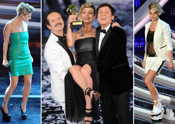 Bianco-nero-verde, i look di Emma - La vincitrice di Sanremo sexy