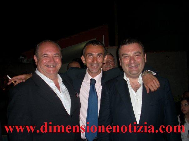 Da sinistra: S. Ricci, Lino Veneruso ed un giormalista