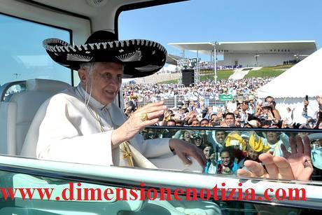 Messico: Il Papa con il sombrero