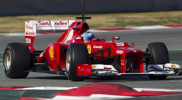 Alonso testing in Spain