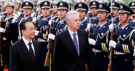 Pechino: i premier Mario Monti e Wen Jiabao