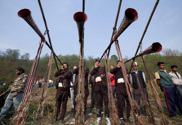 Nepal, riti e tradizioni in onore del dio della pioggia a Kathmandu