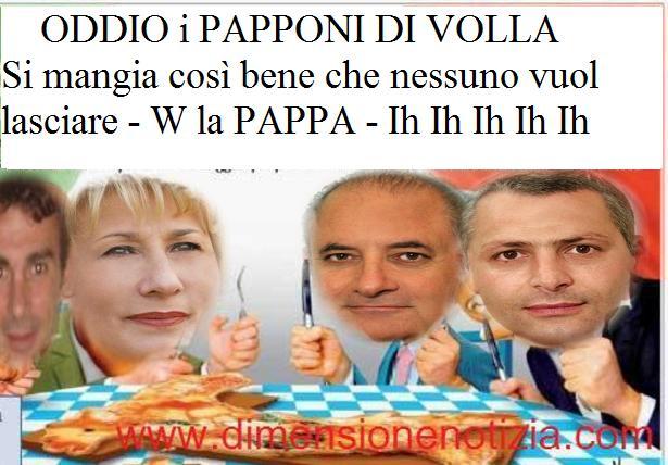 I PAPPONI DI VOLLA (NA) - Il 97% degli italiani non sopporta più i politici