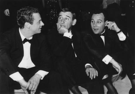 Johnny Dorelli, Renato Rascel e Claudio Villa al Festival della canzone napoletana edizione 1961