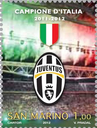 Da San Marino un francobollo per lo scudetto n.28 della Juve