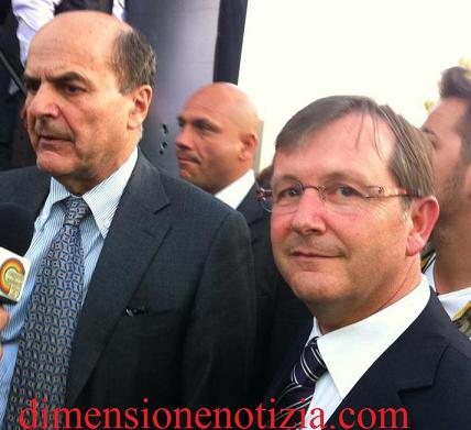 On. Bersani con il dott.re Angelo Guadagno a Volla (NA)