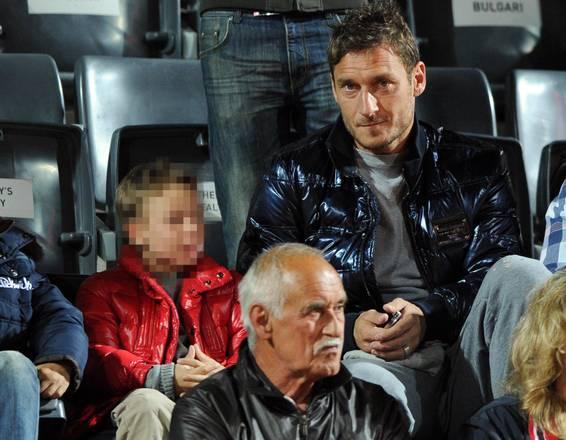 A Roma per Seppi-Federer, anche Totti e figlio