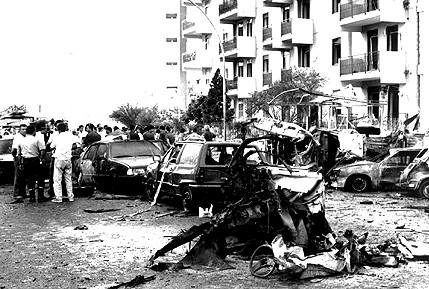 La strage 20 anni fa Borsellino - Il luogo dell'esplosione, 23 maggio 1992