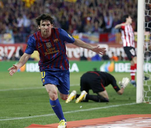 3-0 all'Athletic Bilbao, Coppa del Re al Barca