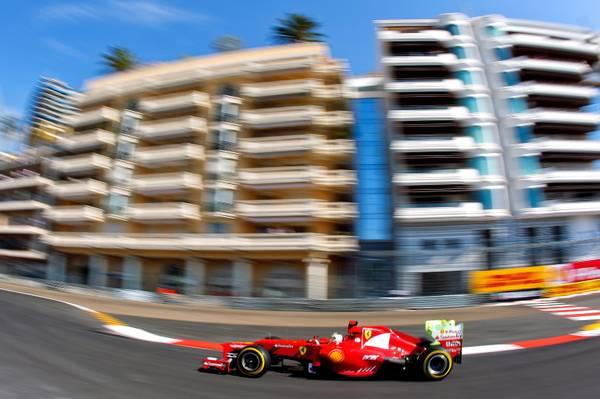 F.1: Fernando Alonso prova il circuito di Montecarlo