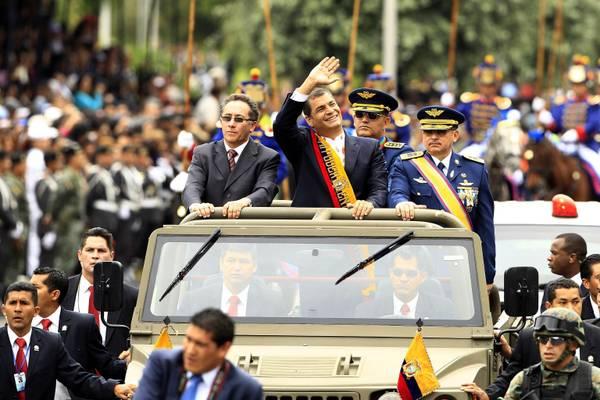 Ecuador, Rafael Correa al 190° della battaglia di Pichincha