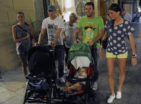 Antonio Cassano e Ignazio Abate con mogli e figli turisti a Cracovia