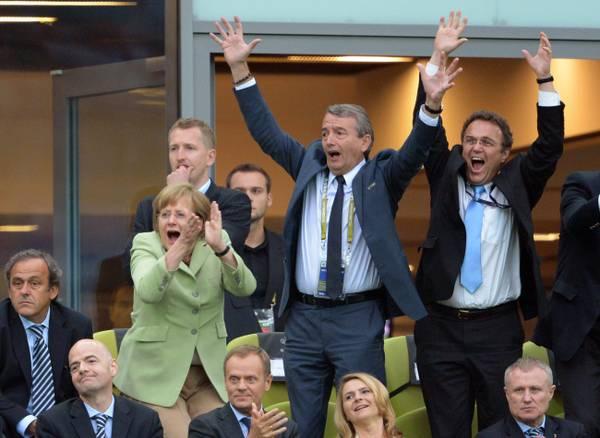 Segna la Germania, Merkel incontenibile