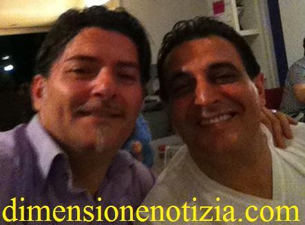 Alessandro Sullo elettricista della fiera della Pizza a Volla (NA) con il tecnico Ciro Palumbo