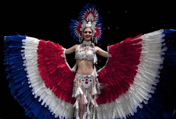 Miss Panama durante le prove per la finale di Miss Mondo