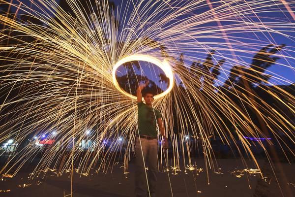 Festeggiamenti nella striscia di Gaza per fine Ramadan