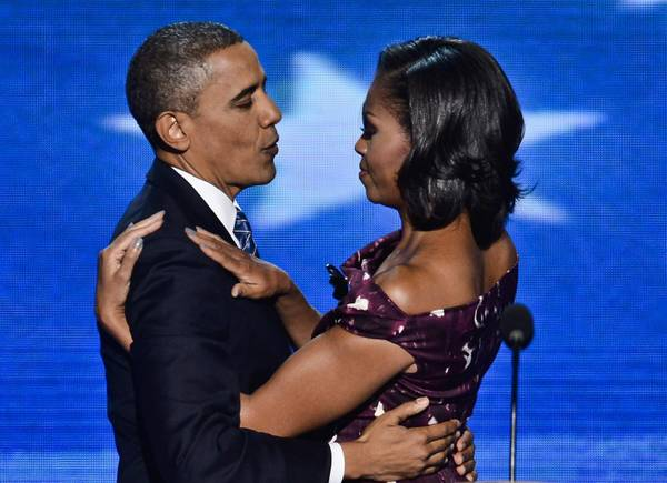 Barack e Michelle Obama alla Convention democratica 2012