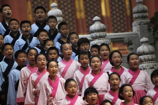 Cina, costumi e riti per l'omaggio a Confucio