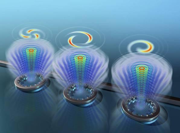 Ottenuti i primi vortici di luce. Chiave per accelerare la trasmissione dati e per super-microscopi