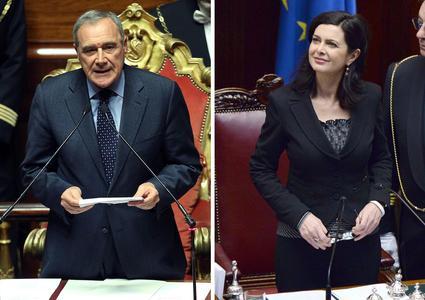 ITALIA - Grasso al Senato Boldrini alla Camera