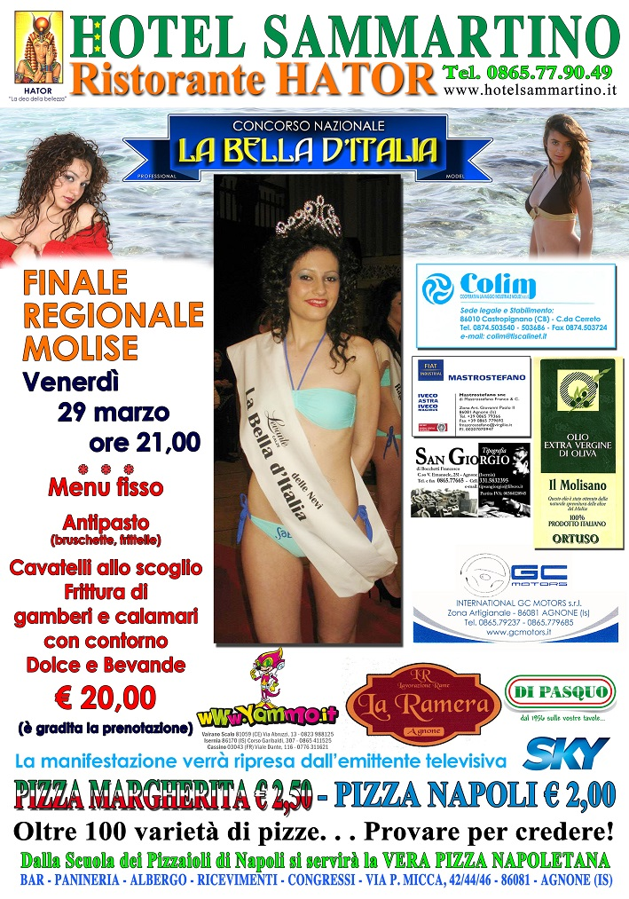 Finale del Molise 29.03.2013 - Hotel Sammartino Agnone - IS -