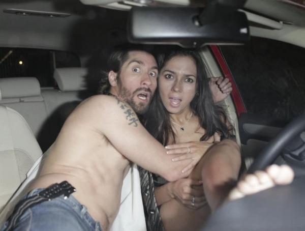 Beccati nell'auto...