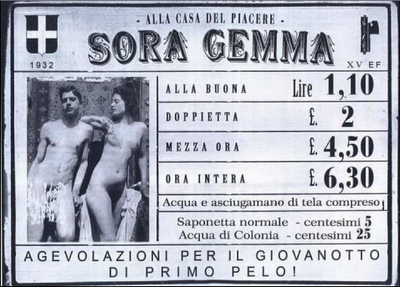Un vecchio flyer di un localetto che ormai non esiste più 1932