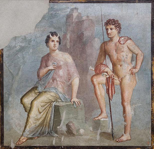 Affresco di Io e Argo a Pompei nella Casa di Meleagro