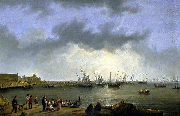 Hackert Jackob Philipp, La baia di Manfredonia, 1790