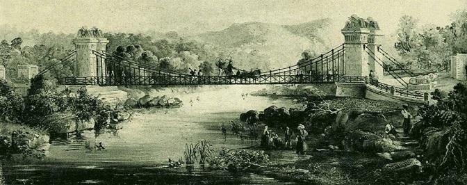 Il ponte sul Calore in una stampa conservata al Museo Filangieri a Napoli
