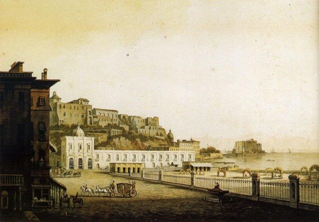 La Riviera di Chiaia e la Villa Reale, conservato presso il Museo di S.Martino a Napoli