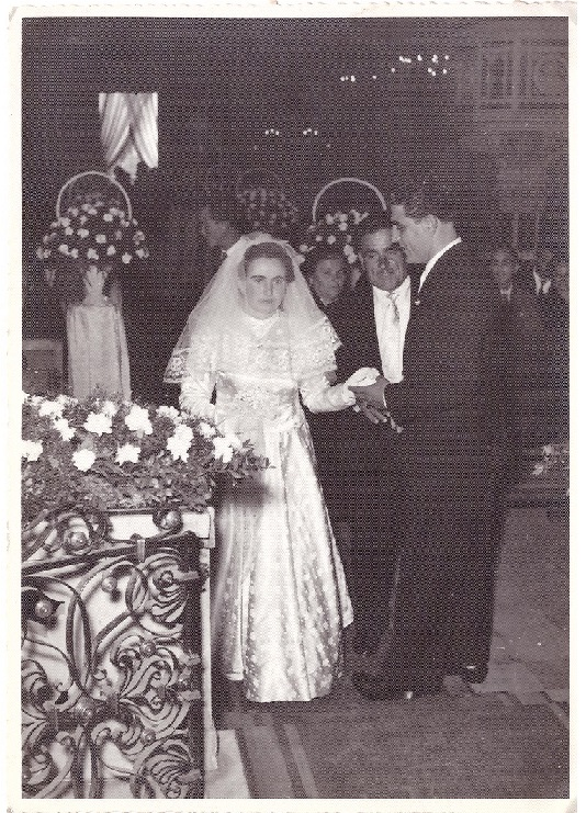 Maria e Vincenzo il giorno del loro matrimonio 1955