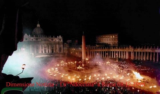 """Giovanni Paolo II: La """"Ndocciata"""" a Roma 08.12.1996"""