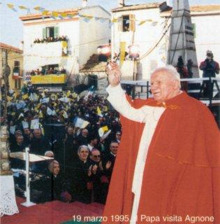 Il 19 marzo 1995 Giovanni Paolo II ad Agnone - IS -