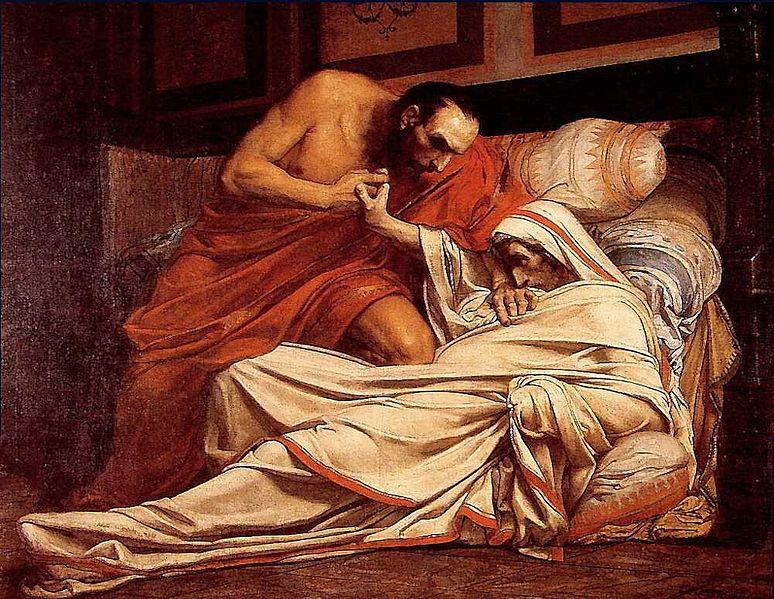 La morte di Tiberio (Jean-Paul Laurens, 1864)