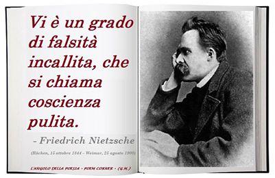 Friedrich Niet: La coscienza è molto più della scheggia, è il pugnale nella carne