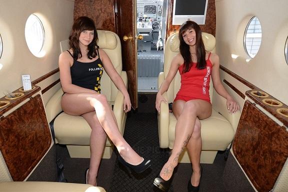 Le mie due figlie sull'aereo privato del presidente...