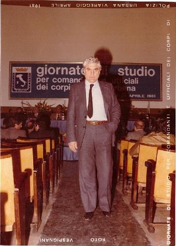 Il comandante Polizia Municipale di Volla (NA) Vincenzo Piccolo 1980