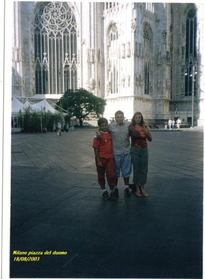 Nico, Vincenzo e Priscilla a Milano -