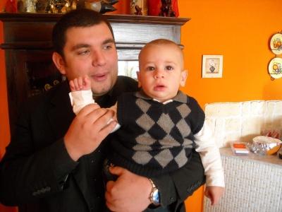 Vincenzo e Diego giorno del Battesimo -