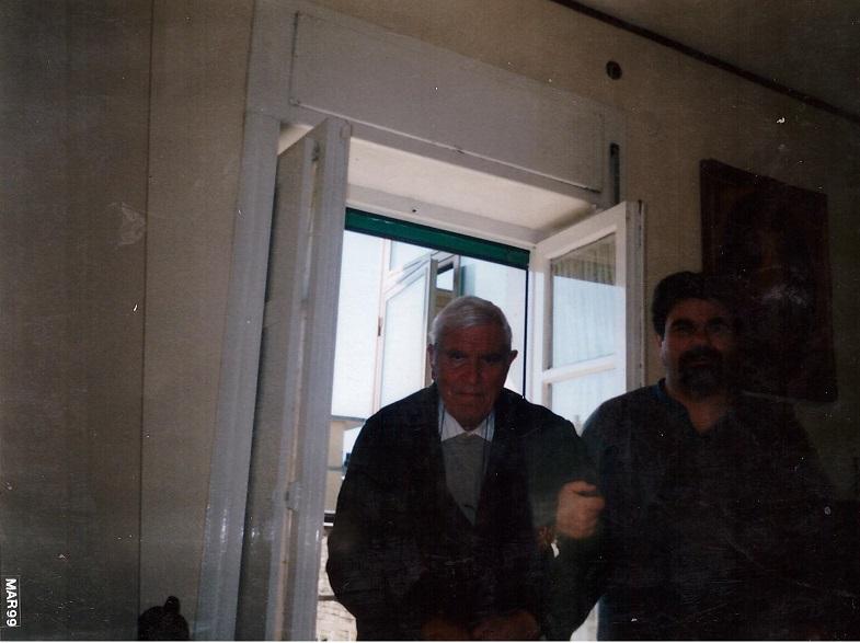 Il comandante Vincenzo Piccolo due mesi prima della sua morte