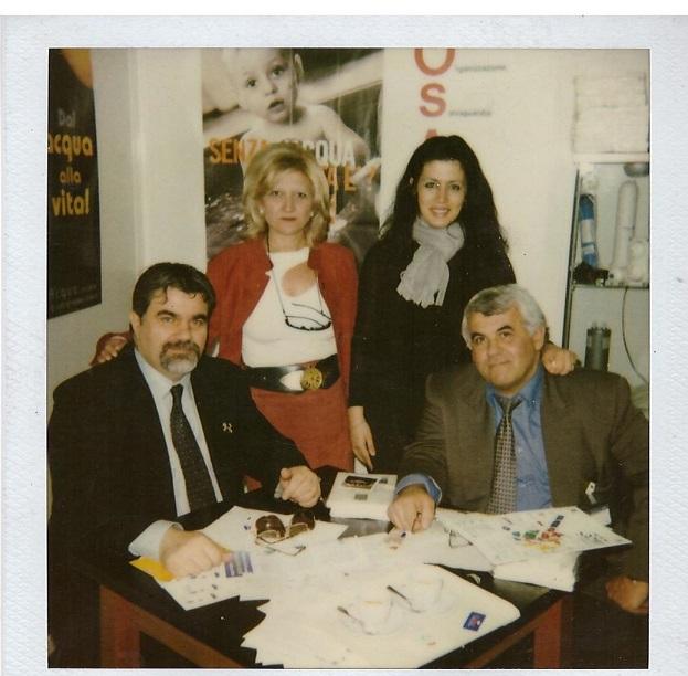 Il prof. Giuseppe con Ing. Brots - Fiera di Milano 2002